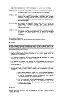 Politique de gestion contractuelle (170-2010)