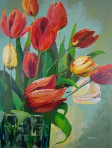 Une autre peinture de tulipes