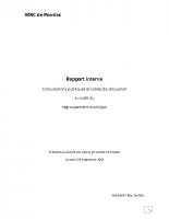 Rapport Interne (v. finale) sur les consultations publiques