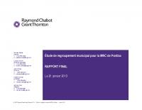 Rapport intégral de l'Étude de regroupement municipal
