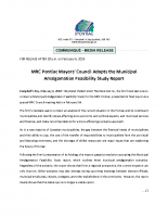 PR-Mayors Adopt Amalgamation Feasibility Study Report