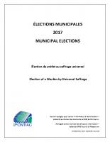 Étude 2016 – Préfet élu au suffrage universel