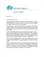 Warden's Report – 2015