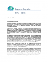 Rapport du préfet – 2015